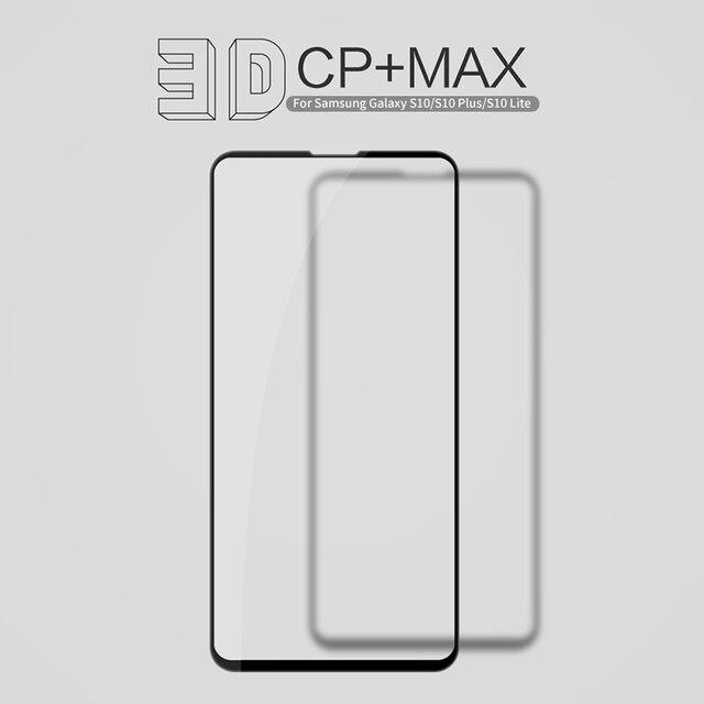 Nillkin samsung galaxy s10/s10 artı/s10e temperli cam ekran koruyucu tam kapalı 3D CP + Max 9H 0.33mm 5.8/6.11/6.4