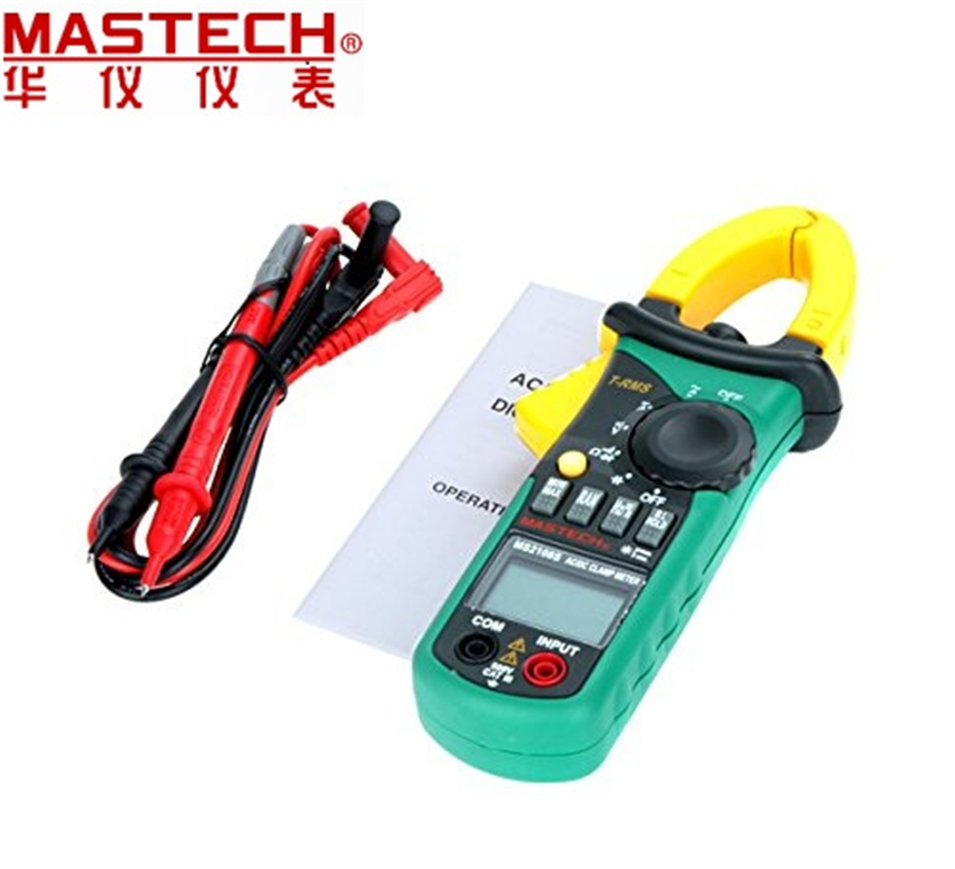 MASTECH MS2108S True RMS 6600 counts Digital AC DC Current 600A Clamp Meter Multimeter Capacitance Frequency Inrush Tester mastech ms8250c autoranging digital multimeter true rms low pass filtering 6600 d a display ncv usb data transmission