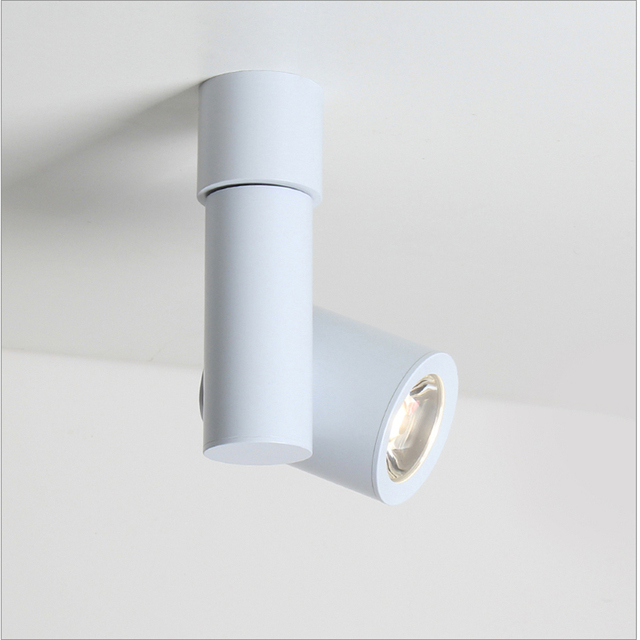 85 265vac 3w 5w Led Rotatable Down Light Cob Spot Lamp Wall Ceiling Mounted Background Painting Accent