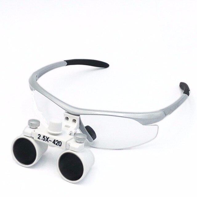 EYESHOT 2.5X420mm Lupa Binocular Dental lupa Vidro Óptico em Lupas ... 4389f4e04f