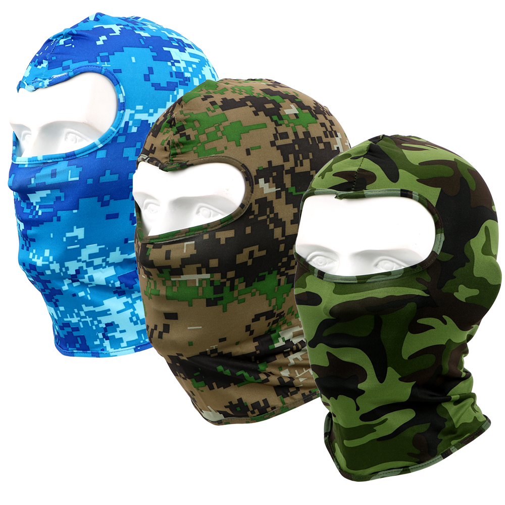 LEEPEE Camouflage Motorcycle Face Mask Full Face And Neck Wind Cap Quick Drying For Cycling Snowboard Sports Breathable Lycra