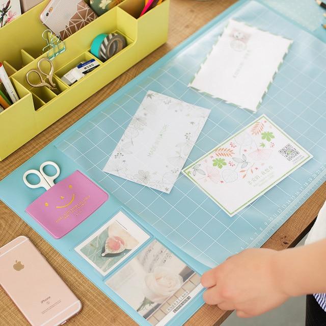 Корейский стиль Карамельный цвет офисные Коврики Многофункциональный еженедельник расписание организатор стол для хранения таблицы memo Коврики обучения pad