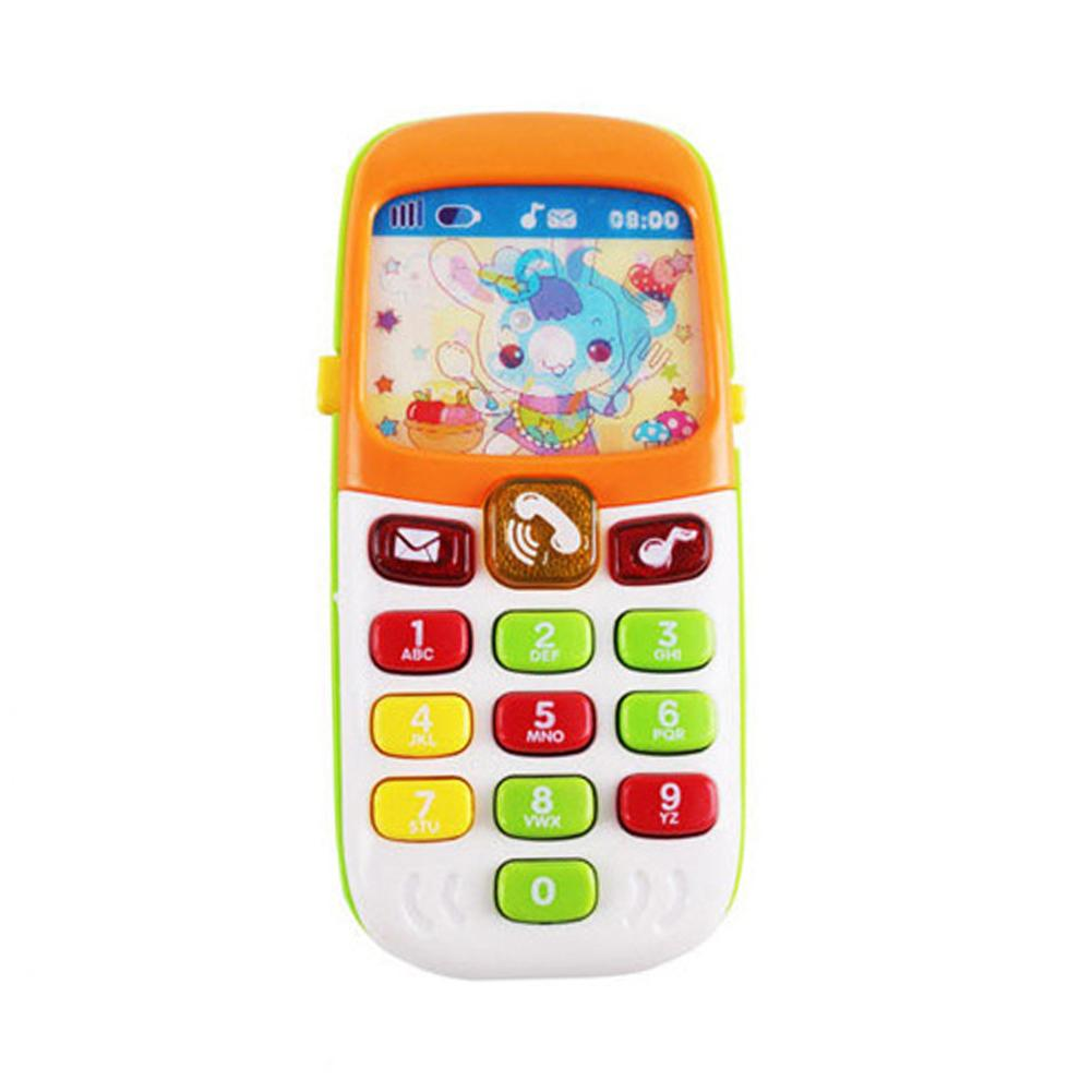 Hermoso Juguete Electrónico Chico Teléfono Móvil Juguetes Educativos De Aprendizaje Instrumento Musical Para Bebé