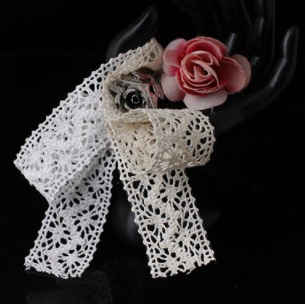 Wholesale 3 5 cm cotton lace trim DIY clothing accessories cotton lace trim garment shoes lace