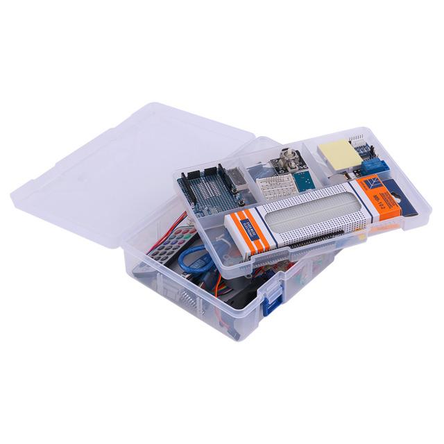 Último profesional DIY Starter Kit LCD Servo Motor Relé RTC LED del Kit Para Arduino UNOR3 Entusiastas Principiantes