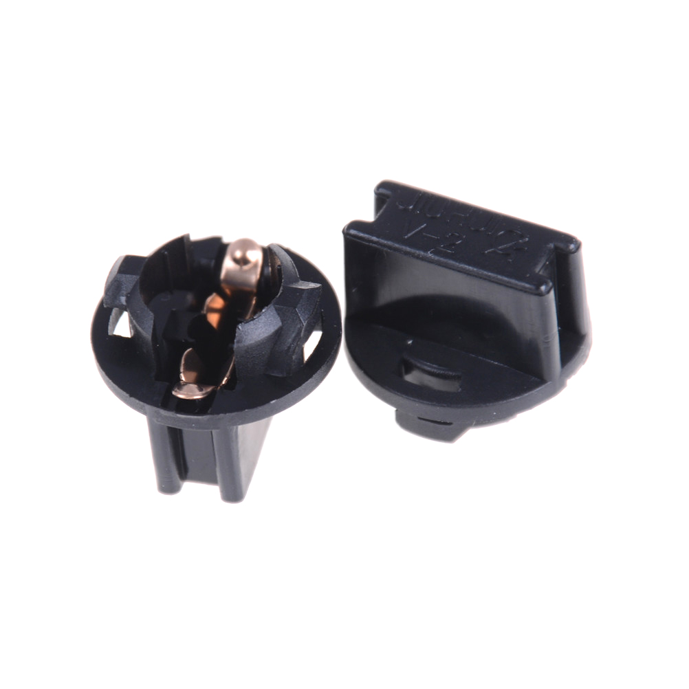 10PCS T10 Socket Dashboard Instrument Panel Socket T10 W5W 168 192 194 Twist Lock Wedge Bases Lamp Dash Bulb Plug Black