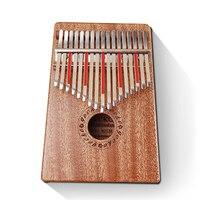 GECKO 17 Keys K17M Kalimba African Mahogany Thumb Piano Mbira Finger Percussion Mini Keyboard Marimba Wooden Music Instruments