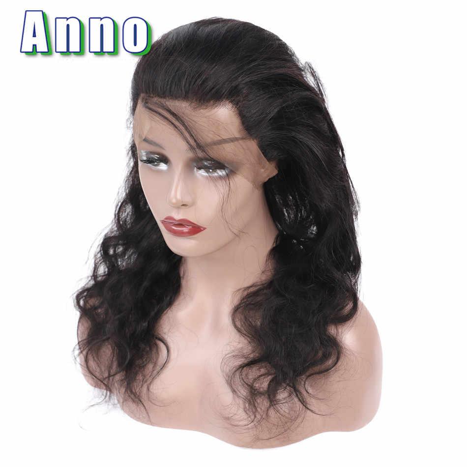 Annowig 360 синтетический Frontal шнурка волос перуанский средства ухода за кожей волна человеческие волосы синтетическое закрытие шнурка...