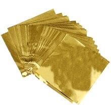 Милые 100 шт сладости Конфета посылка фольга бумага фольга для шоколада на палочке обертки квадратные(золото
