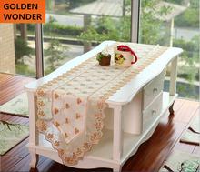 European Style Luxury Elegant Embroidery Modern Table Runners Home Decoration High Quality Beautiful Fabric