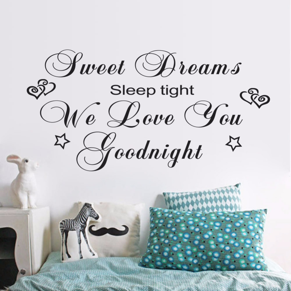 """Sweet Dreams"" Wall Art Quote Kids Nursery Removable ..."