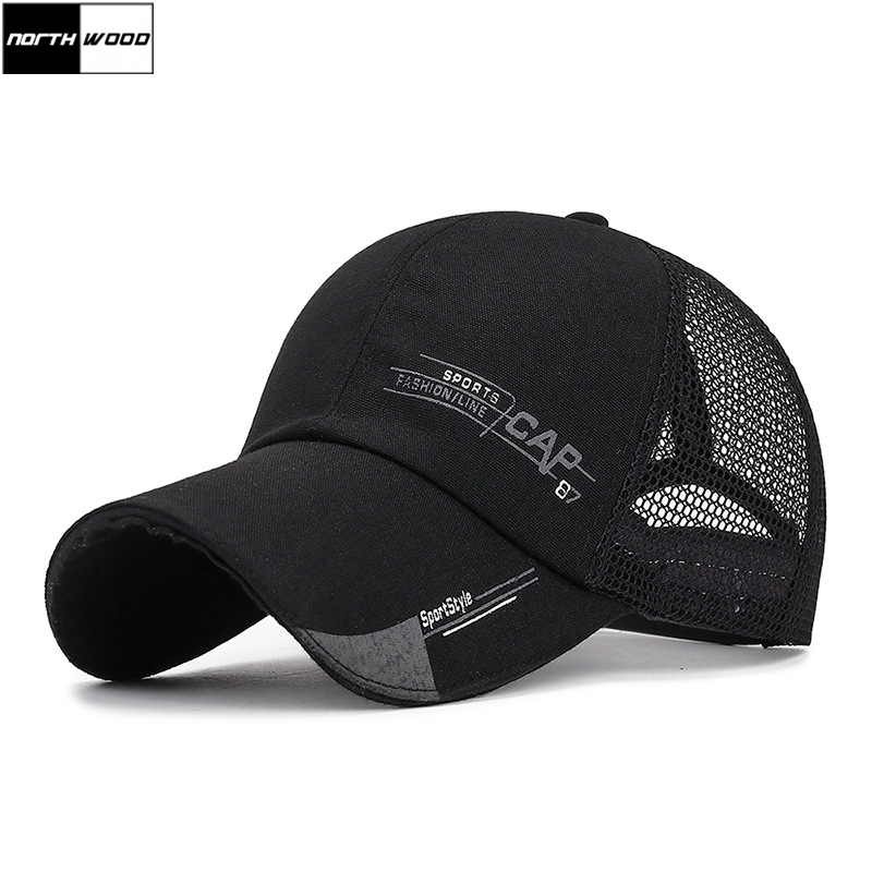 [NORTHWOOD] Fashion Sport Summer   Baseball     Cap   Men Women Dad Hat Gorra Hombre Mesh   Cap   Snapback Trucker   Cap