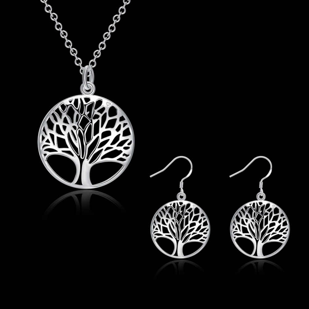 S828 Hot 925 sterling silver Necklace 925 silver fashion jewelry pendant tree Cute Silver Necklace Tree Pendant Life Tree Totem