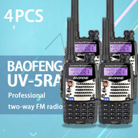 """רדיו ווקי טוקי (4 PCS) Baofeng UV5RA Ham שני הדרך רדיו טוקי ווקי Dual-Band מקמ""""ש (שחור) (2)"""