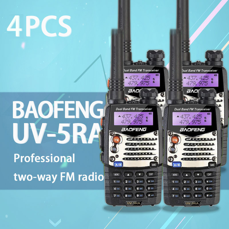 Image 2 - (4 PCS)Baofeng UV5RA Ham Two Way Radio Walkie Talkie Dual Band Transceiver (Black)-in Walkie Talkie from Cellphones & Telecommunications