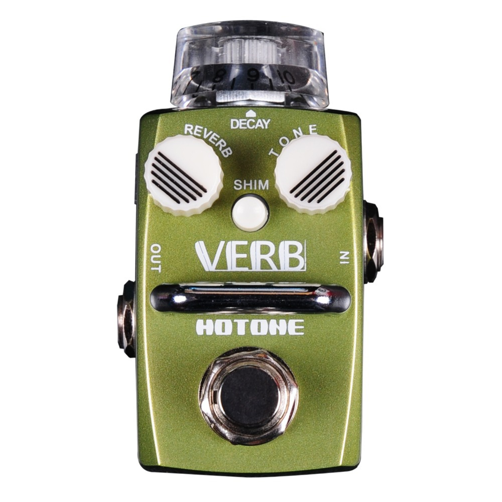 Hotone Verb / Digital Reverb Room Hall Reverb Electric Guitar Bass Effect Pedal True Bypass / Smallest Top Grade Fancier Choice hotone grass classic tube overdrive effect pedal electric guitar bass true bypass top grade fancier choice