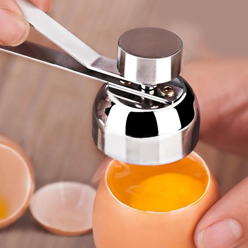 Stainless Steel Boiled Egg Topper Shell Cutter Knocker Raw