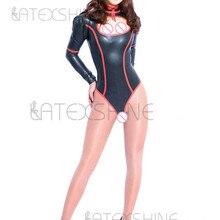 af3f2718a5 100% Latex Rubber Gummi Catsuit Suit Unitard Bodysuit Swimsuit Leotard  Zipper