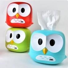1Pcs Creative Owl Paper Towel Tube Cart Sturdy And Durable Cartoon Roll Bathroom Office Plastic Big Eyehawk Tissue Box