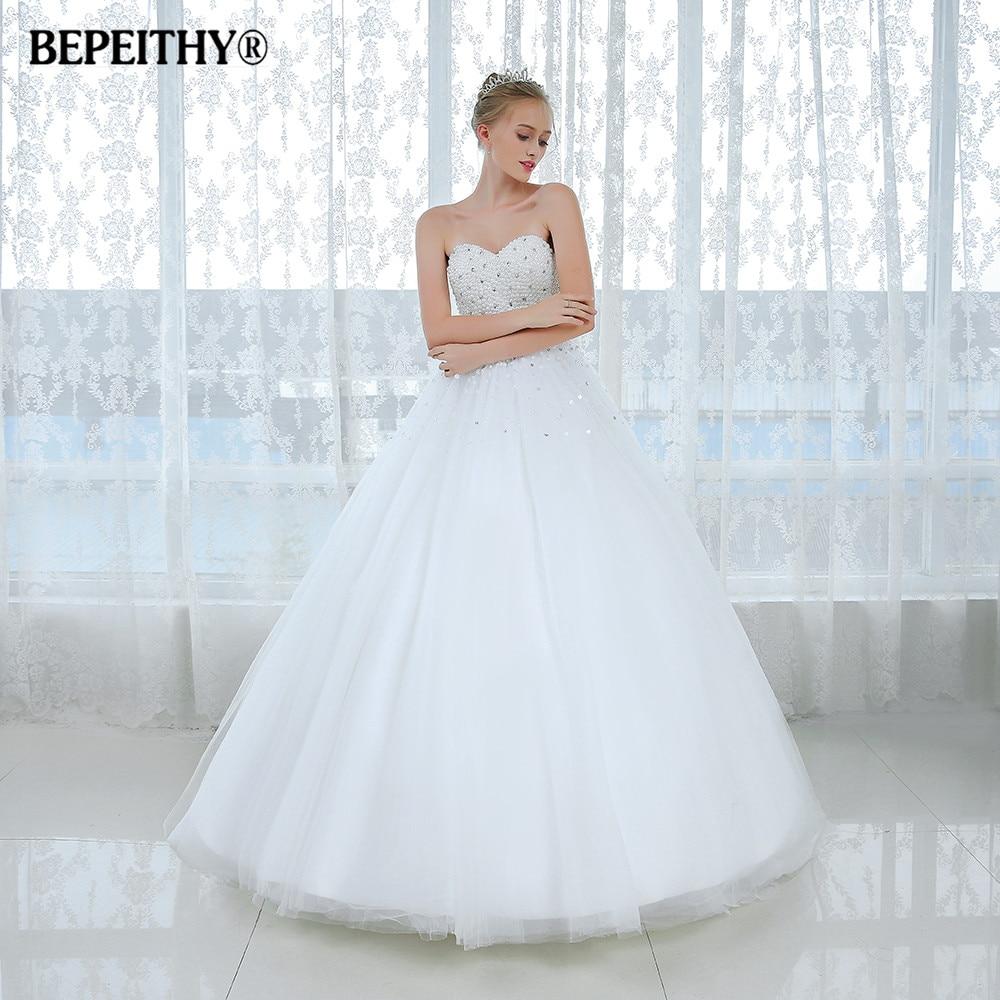 Новое поступление, белое свадебное платье принцессы, винтажное свадебное платье невесты с кристаллами и топом, es Vestidos De Novias