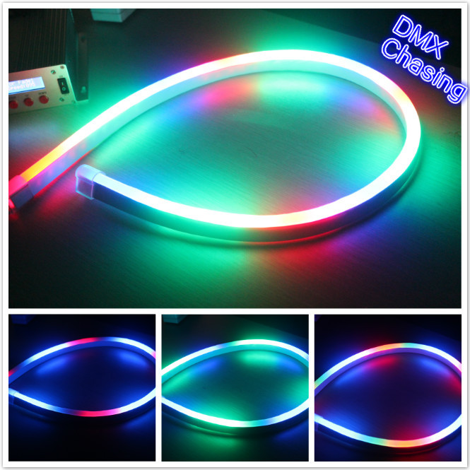 50m (164) 110V 14X26mm flex neon RGB chasing led decorative Strip w/ SMD 5050 for Chrismas tree decoration & outdoor design