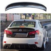 Углеродного волокна задний багажник загрузки утка спойлер лобового стекла крыло для Lexus IS IS250 IS300 IS350 2007 2013 IS F Вальд Стиль укладки