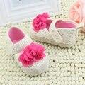 Bebé Recién Nacido Niño de punto de Ganchillo Flor Cuna Zapatos de Las Muchachas Zapatos Casuales