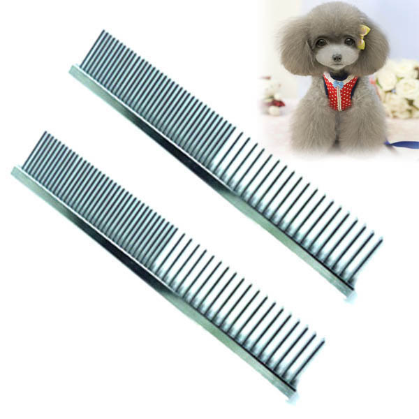 Pet Dog Cat Stainless Steel Comb Long Hair Shedding Clean