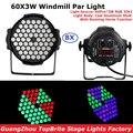 Светодиодные лампы Par 10 Вт  8 шт. в упаковке  60x3 Вт  RGB 3 в 1  200 Вт  мощные светодиодные лампы Par  стробоскопический эффект  DMX512  диско-оборудование...