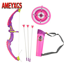 Special Gift Archery Kids Bow And Arrow Toy Set Target Stand Board Quiver Games Children Shooting Hunting Practice Accessories