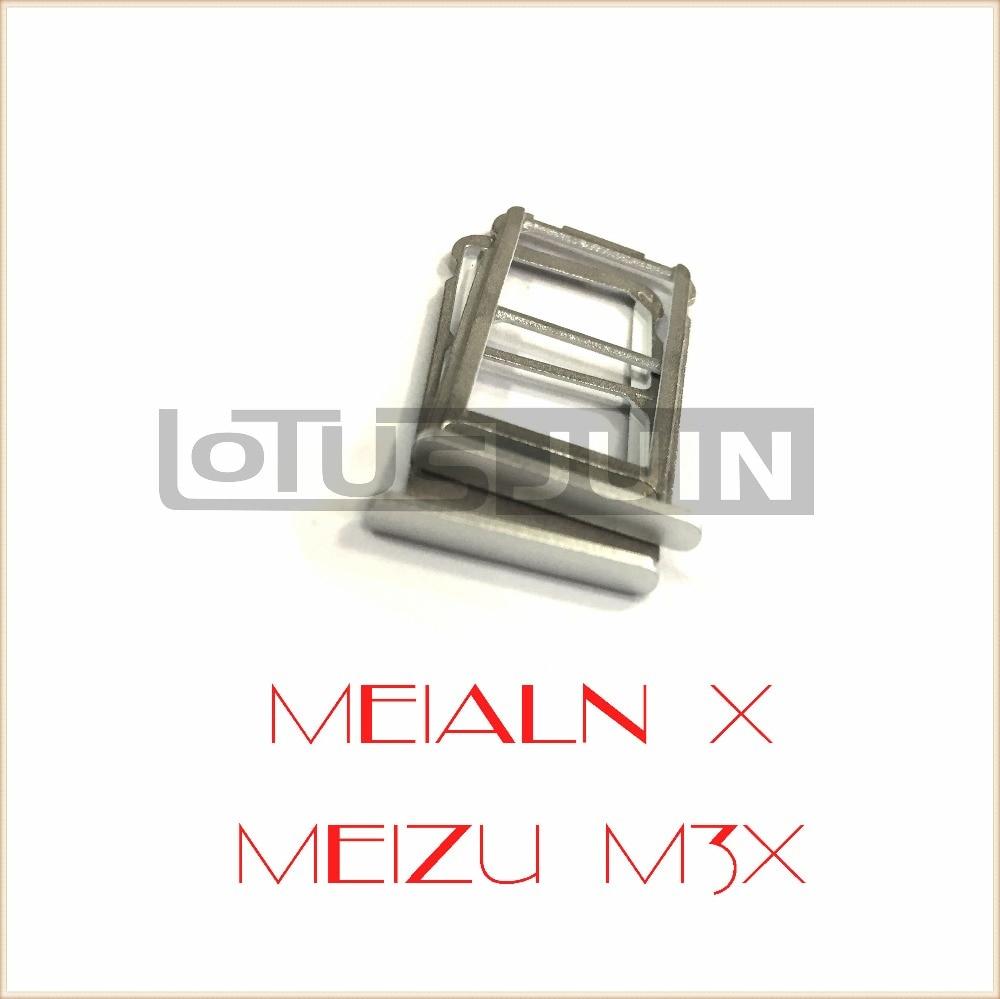 1pcs new original SIM Card Slot Holder  Micro SD Card Slot Tray Socket Adapter for Meizu Meilan X M3X