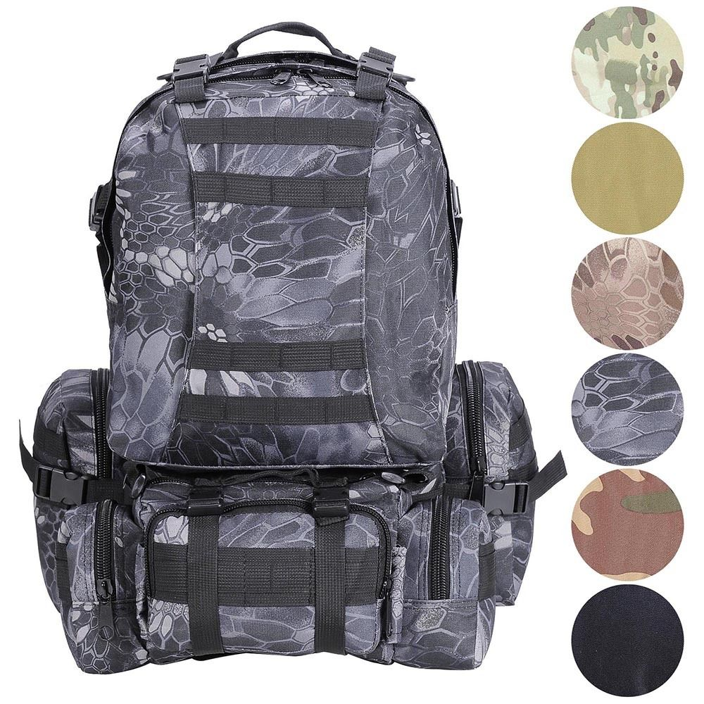 55L Outdoor Military Molle Tactical Backpack Rucksack Camping Bag Travel Hiking famous brand 40l outdoor sports military molle tactical travel backpack bags for walking and hiking camping backpacks bag