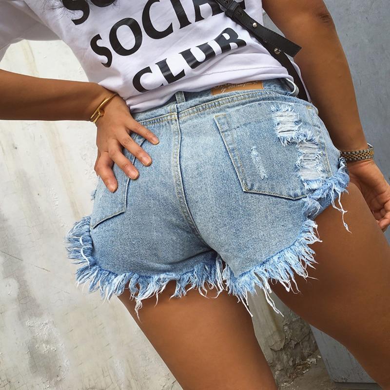 Винтажные рваные дырявые с бахромой черные/белые/синие шорты женские повседневные летние джинсовые шорты с карманами горячие шорты для девочек