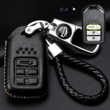 Car key ring Car key cover for Honda Civic City XRV CRV URV Accord Odyssey VEZEL CRIDER AVANCIER protective case Car styling все цены