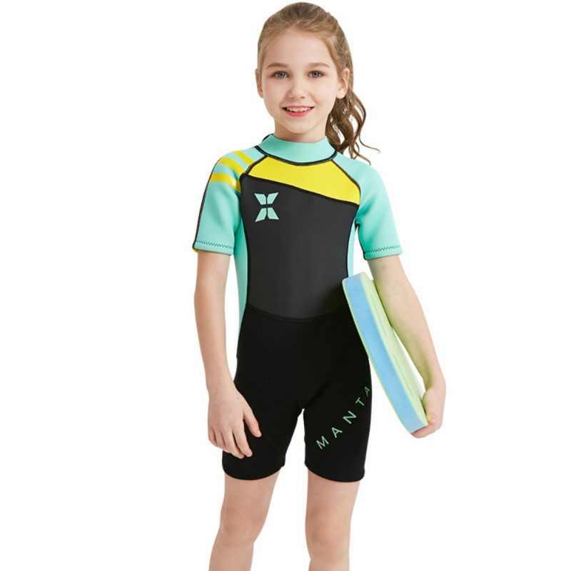 الفتيان والفتيات بدلة غطس الأطفال النيوبرين الأطفال 'ق تصفح السباحة الدافئة ملابس السباحة ملابس السباحة بذلة السراويل دعوى