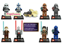 8pcs/lot High Quality ABS Star Wars Building Blocks And Collect Eight Parts Could Be assembled Space Fighter Minifigure
