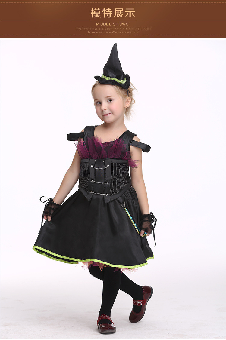 Popular Girls Black Witch Costume-Buy Cheap Girls Black Witch ...