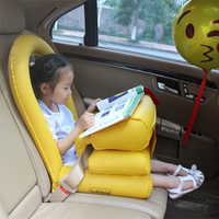OLOEY 2 In 1 Inflatable Baby Children Car Safety Seat Air Bag Convenient Car Light Foldable Comfortable Kids Safety Table Pillow