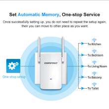 Smart Wireless WIFI Repeater 1200Mbps Extender 5G WiFi Amplifier Widely Wi Fi Reapeter