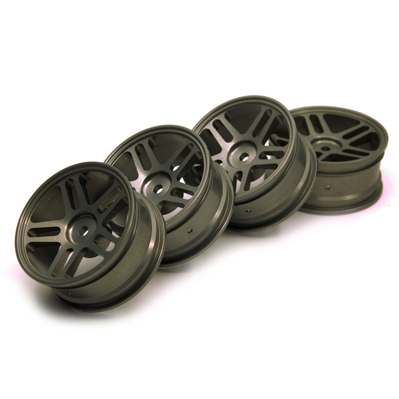 High Quality 4pcs/lot Aluminum HSP Wheel Rims For 1/10 On-Road Drift Racing Car D3 D4 XI Titanium #3 туринг 1 10 rs4 sport 3 drift subaru brz