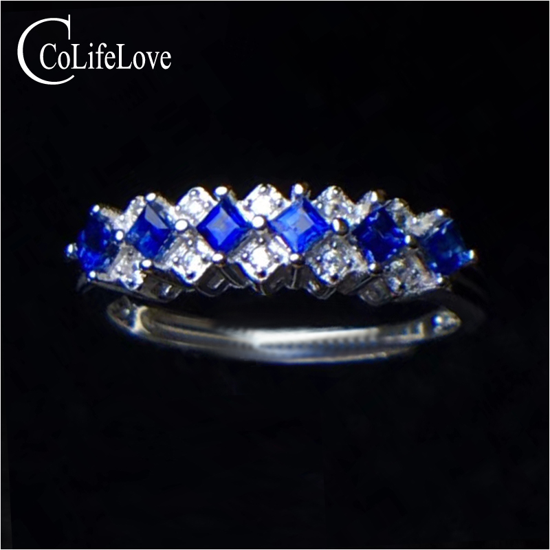 Natural royal blue sapphire ring for engagement 2 mm * 2 mm VS grade sapphire silver ring solid 925 silver sapphire fine jewelry osprey рюкзак celeste 29 sapphire blue