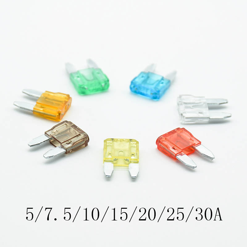 Car Electrical Spare 10x Mini Blade Fuses 7.5 Amp For Electrical Components