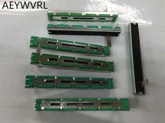 5 шт. потенциометр A10K A20K A50K оригинальный дуплексный потенциометр миксер fader 75 мм A10KX2 A20K * 2 A50K * 2