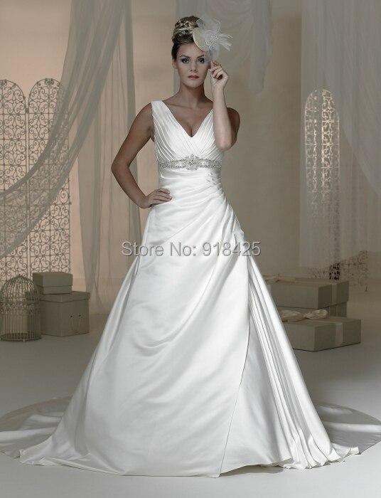 Plain White Satin Dress