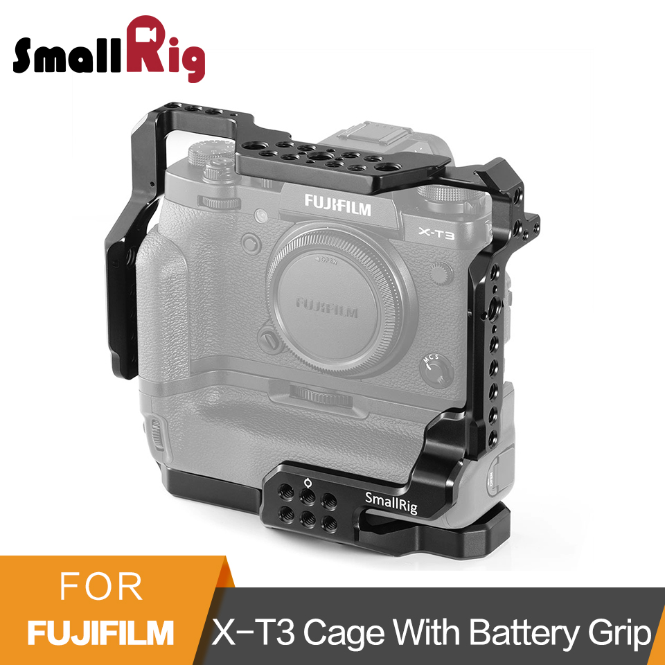 SmallRig X-T3 Aluminum Alloy Cage for Fujifilm X-T3 Camera Cage with Battery Grip Stabilizer Rig Protective Case Cover - 2229SmallRig X-T3 Aluminum Alloy Cage for Fujifilm X-T3 Camera Cage with Battery Grip Stabilizer Rig Protective Case Cover - 2229
