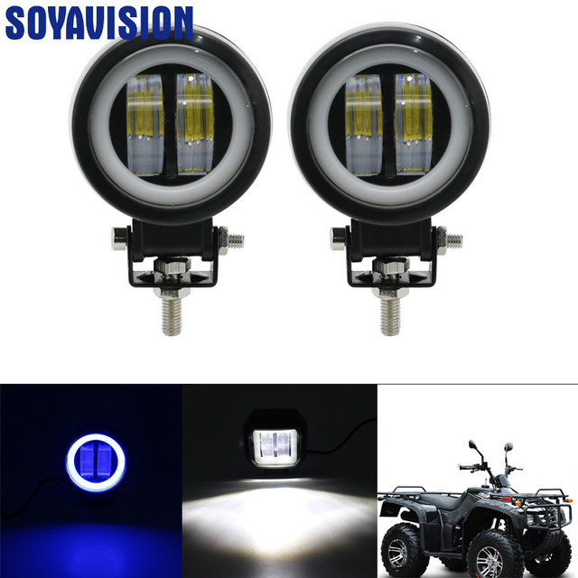 3inch LED Off raod Lights Work Lamps 12V 24V 6500K 20W with Angel Eyes Lights spot fog light Car Boat Motorcycle LED Work Light