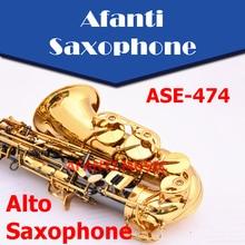 Afanti Music Eb tone / Brass body / Black Nickel Gold Saxophone (ASE-474)