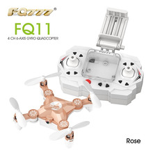 Hot FQ777 FQ11 With Foldable Arm 3D Mini 2.4G 4CH 6 Axis Headless Mode Portable RC Quadcopter Helicopter One Key Return RTF