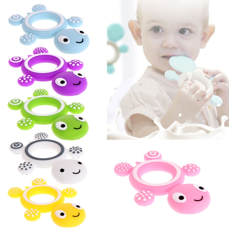 Safety Tortoise Baby Kids Food Grade Silicone Soother Teether Teething Pacifier