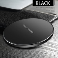 New Ultra Thin Qi Fast Wireless Charger Home Travel Work Phone Charger For Samsung NOTE 8